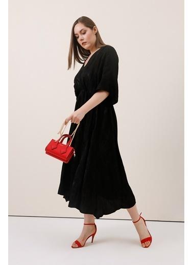 Gusto Jakar Desenli Elbise - Siyah Jakar Desenli Elbise - Siyah Siyah